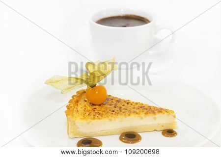 piece of cake with passion fruit