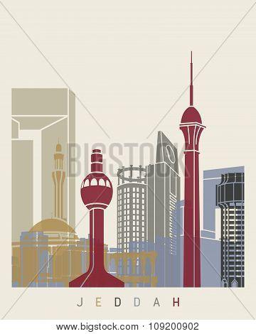 Jeddah Skyline Poster