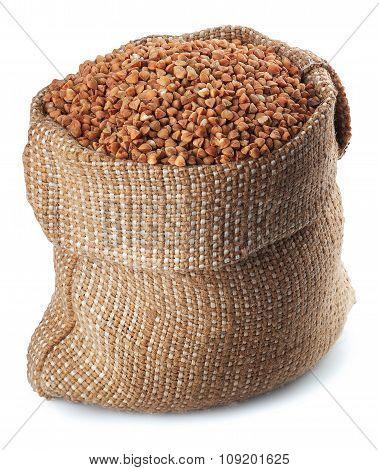 Buckwheat  In Burlap Bag