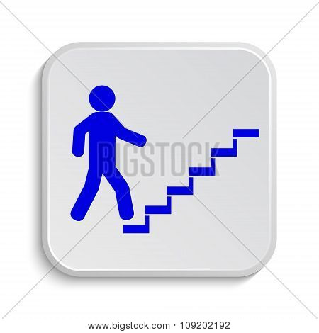 Businessman On Stairs - Success Icon
