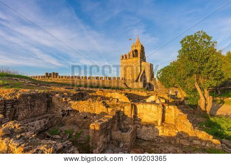 Europe, Portugal, Alentejo Region - View from Montemor o Novo medieval Castle at sunset