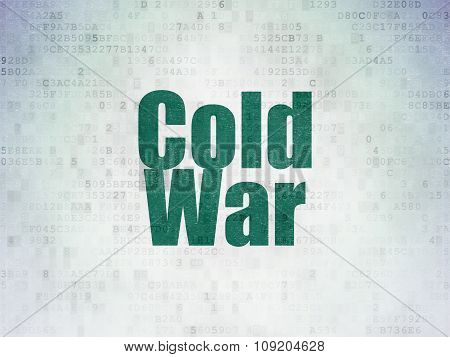 Political concept: Cold War on Digital Paper background