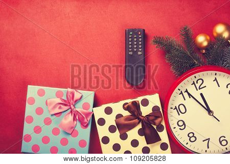 Tv Remote And Christmas Gifts