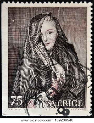 SWEDEN - CIRCA 1972: A stamp printed in Sweden shows