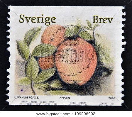 SWEDEN - CIRCA 2008: stamp printed in Sweden shows Apple circa 2008