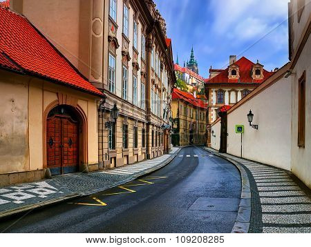 Old Street In Prague City
