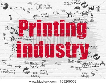 Industry concept: Printing Industry on wall background