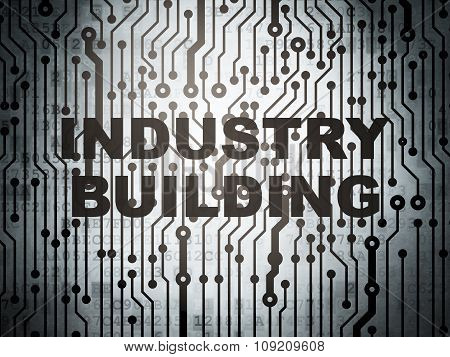 Industry concept: circuit board with Industry Building