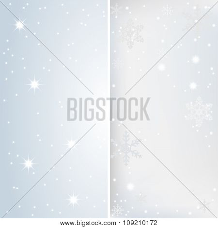 Snow, Stars and lights. Banner Christmas Background. Illustration vector EPS10.