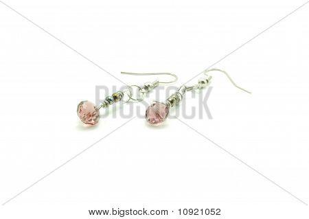 pink swarovski earring