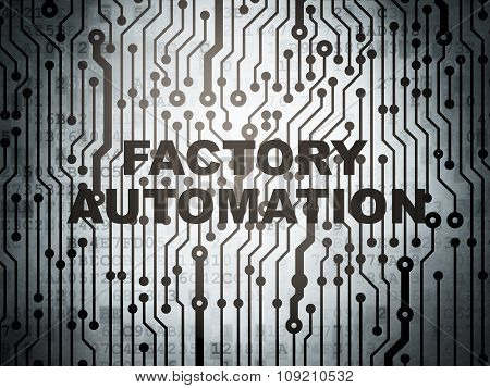 Manufacuring concept: circuit board with Factory Automation