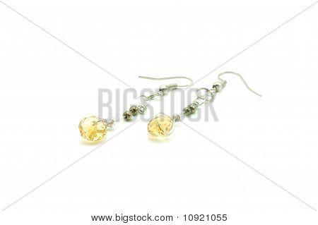 gold Swarovski earrings