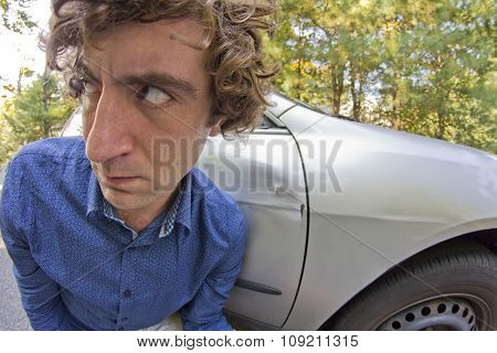 Car Crash Facial Expression