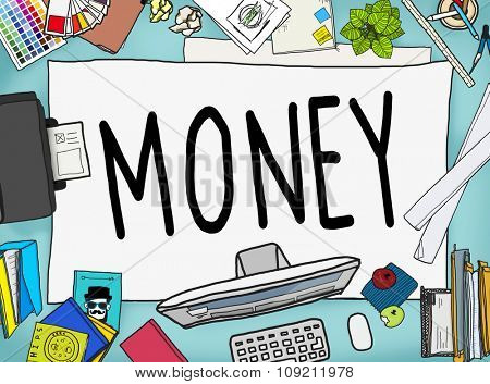 Money Economics Finance Investment Payment Concept