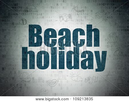 Vacation concept: Beach Holiday on Digital Paper background