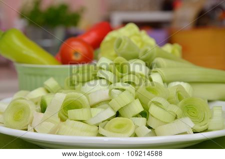 Fresh Leek Rings