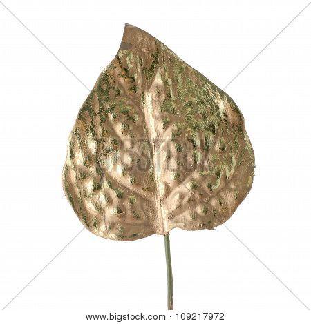 Beautiful Decorative Golden Leaf