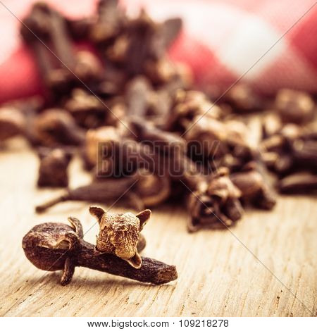Spice Cloves On Kitchen Table