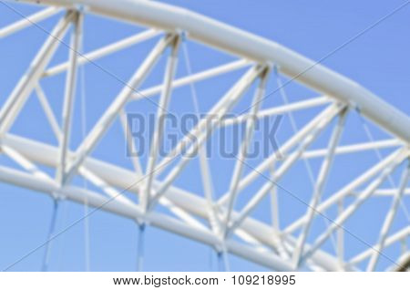 Defocused Background With Detail Of A Modern Bridge In Italy