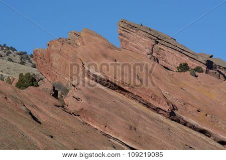 Erosion of Red Rocks Colorado