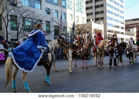 Festive Horseback Riders