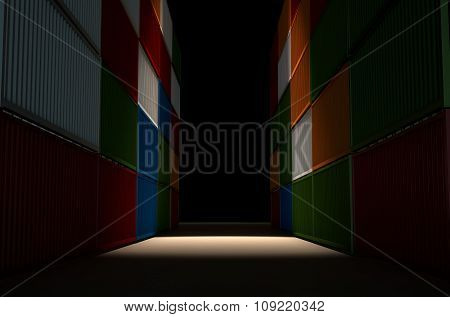 Shipping Container Corriidor