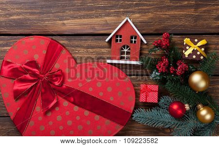 Heart Shape Box And Toy House