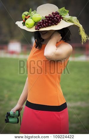 Beautiful Woman With Interesting Hat