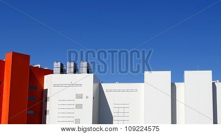Wall Of The Big Industrial Building