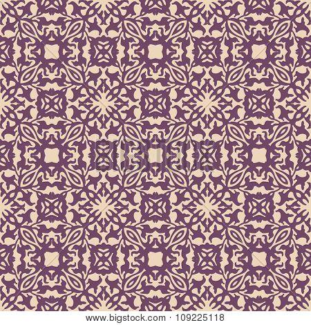 Seamless background image of vintage elegant purple geometry shape pattern.
