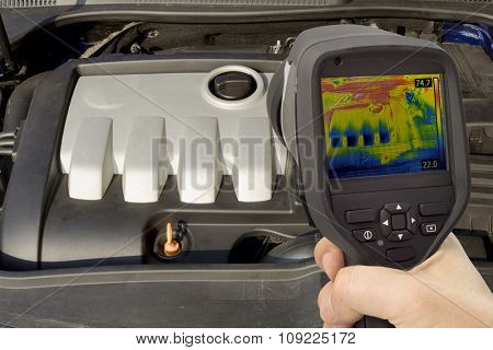 Car Engine Thermal Imaging Infrared