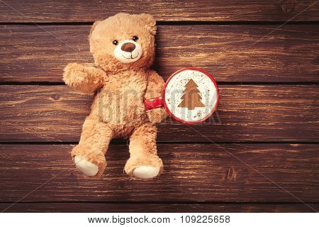 Cappuccino And Teddy Bear Toy