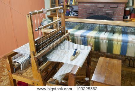 craft room with a loom