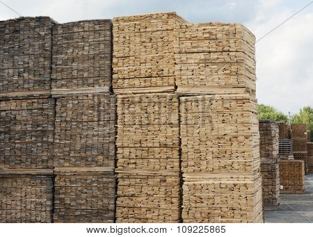 wooden planks stacked