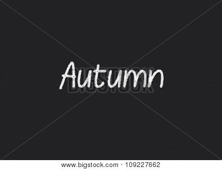 Autumn written on a blackboard