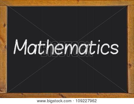Mathematics written on a blackboard