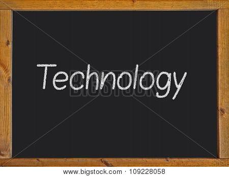 Technology written on a blackboard