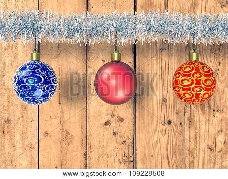 Christmas Balls And Festoon