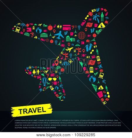 Travel Transportation Tourism And Landmark Infographic Banner Template Layout Background Badge In Pl