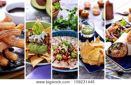 Various Mexican Food Buffet, Close Up