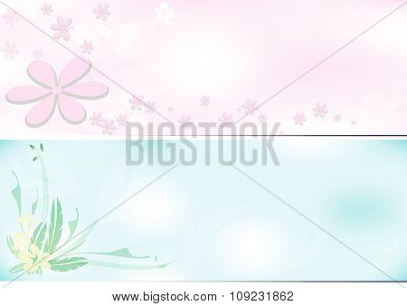 Flower Background Two Tone