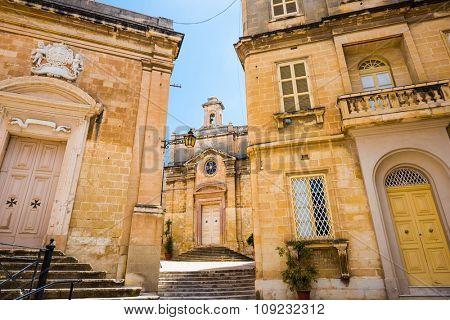 St. Joseph chapel of St. Lawrence's church in Valletta`s Birgu in Malta