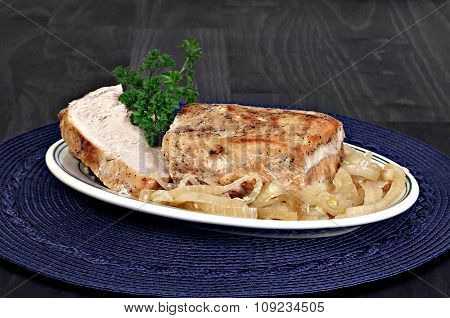 Roast Pork Loin And Onions.