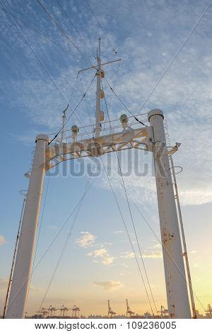 Mainmast and the sunset