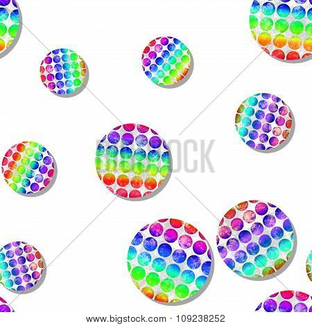Seamless Pattern With Dotted Circles