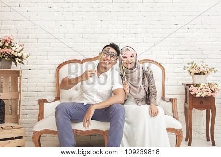 Expression Of Married Couple Having Fun