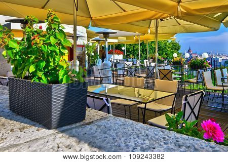 Restaurant Near The Hungarian Parliament