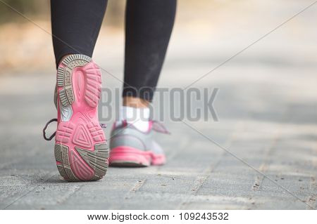 Close Up Of Running Shoes