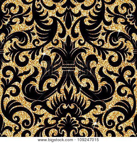 floral golden wallpaper