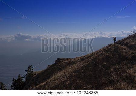Beautiful panoramic mountain landscape.